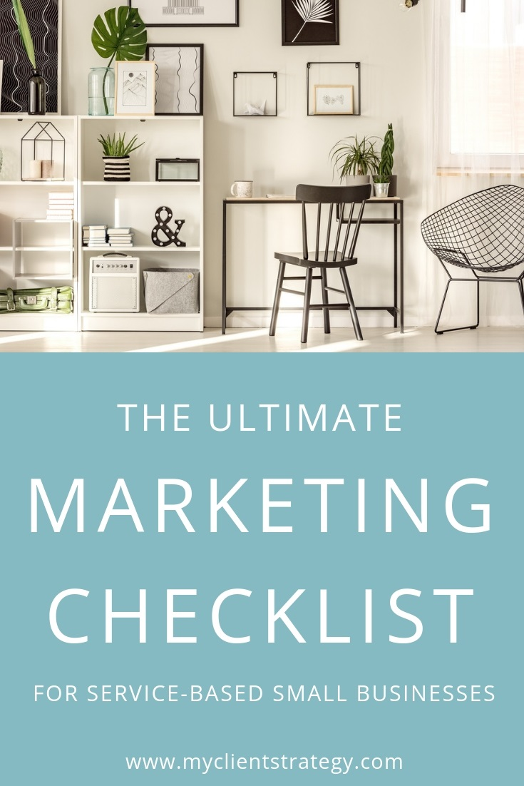 Ultimate Marketing Checklist Service Based Small Businesses