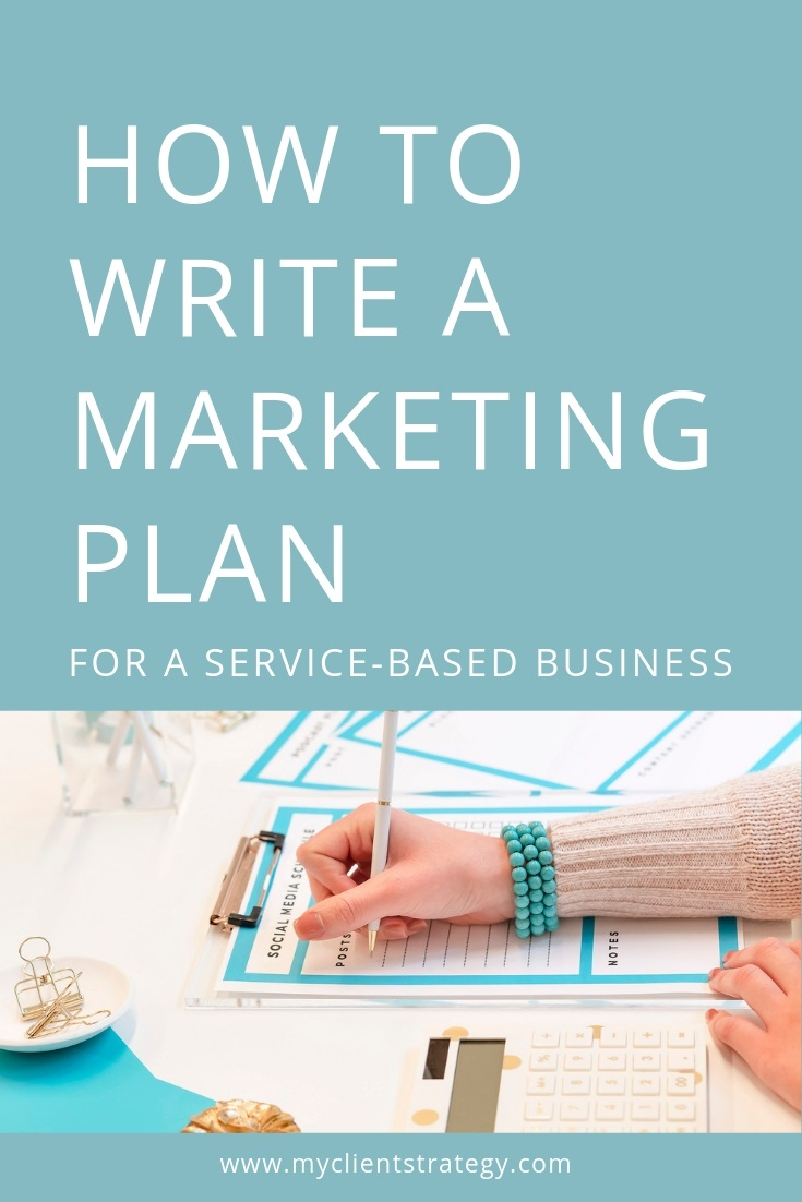 How to write a marketing plan for a service based business