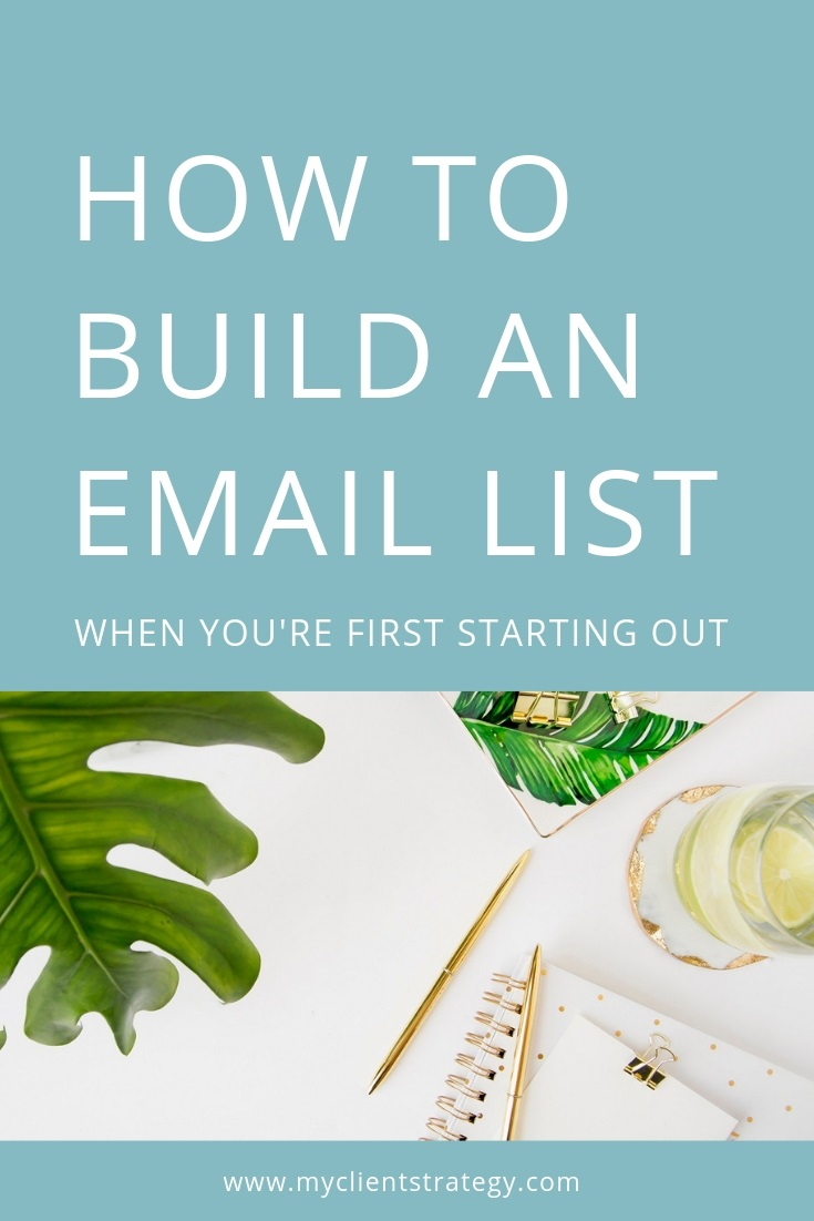 How to build an email list when you're first starting out