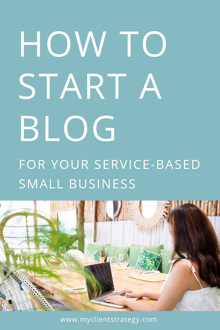 How to start a blog for your service based small business