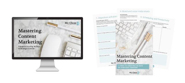Content Marketing Training and Workbook