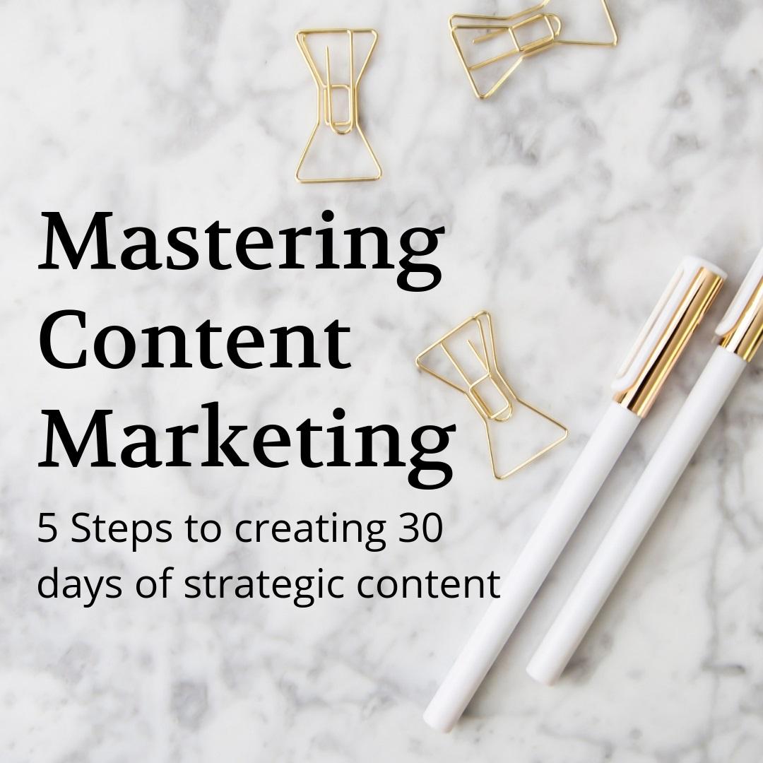 Mastering Content Marketing Training