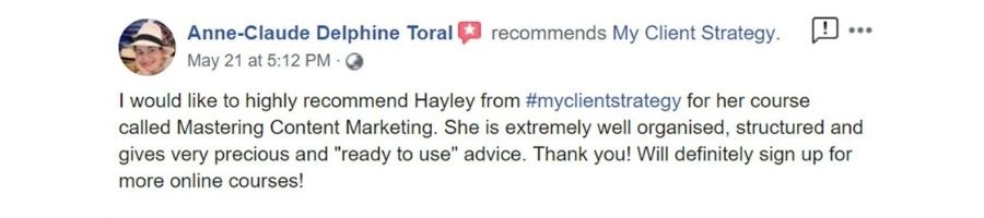 client testimonial content marketing