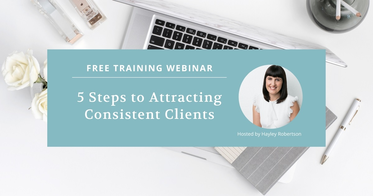 Free Webinar Attract Consistent Clients