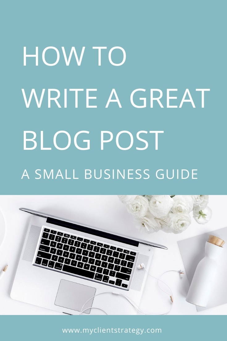 how to write a great blog post for small business