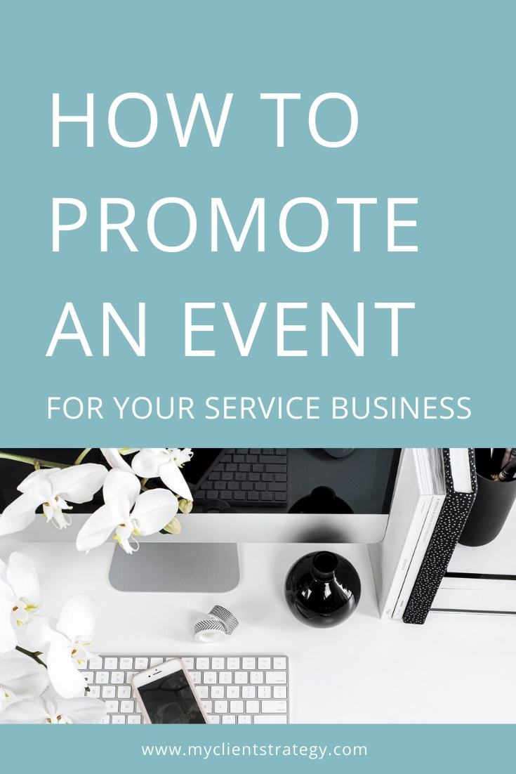 how to promote an event for your service business