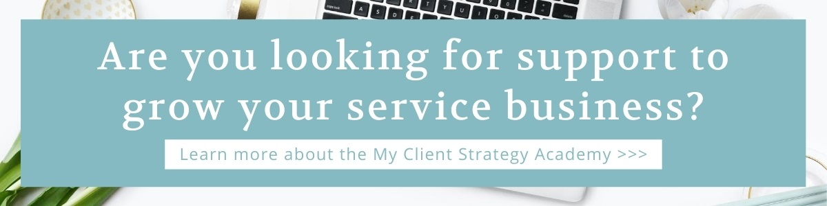My Client Strategy Academy blog banner