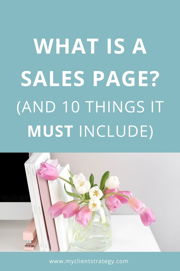 what is a sales page
