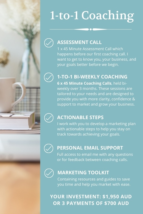 1 to 1 Marketing Coaching